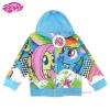 """""""สำหรับเด็ก2-10 ปี"""" Jacket My Little Pony for Girl เสื้อแจ็คเก็ต เสื้อกันหนาว เด็กผู้หญิง สีฟ้า สกรีนลาย มายลิตเติ้ลโพนี่ รูดซิป มีหมวก(ฮู้ด) ใส่คลุมกันหนาว กันแดด ใส่สบาย ลิขสิทธิ์ฮาสโบแท้ โพนี่แท้"""