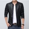 Pre-Order เสื้อแจ็คเก็ตหนังคอบัว สีดำ