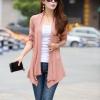 เสื้อผ้าแฟชั่นนำเข้า : เสื้อคลุมแฟชั่น พร้อมส่ง สีชมพู แต่งลายฉลุ แขนยาว ตัวยาวคลุมสะโพก ใส่กับชุดทำงานหรือชุดเที่ยวก็เก๋ๆค่ะ