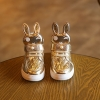 รองเท้าผ้าใบหุ้มข้อ หัวกระต่าย สีทอง
