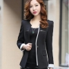Pre-Order เสื้อสูททำงานแขนยาว เสื้อสูทผู้หญิง สูทลำลอง สีดำ แฟชั่นชุดทำงานสไตล์เกาหลีปี 2014
