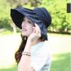 Pre-order หมวกแฟชั่น หมวกใบกว้าง หมวกฤดูร้อน กันแดด ผ้าโพลีเอสเตอร์ สีดำ