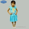 (4-6-8-10 ปี ) ชุดเดรสฟ้า แขนกุด ลายเจ้าหญิงเอลซ่า ดิสนีย์แท้ ลิขสิทธิ์แท้ (สำหรับเด็ก4-6-8-10 ปี)