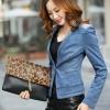 Pre-order เสื้อสูทแฟชั่น สูทยีนส์เข้ารูป สูทบาง ประดับด้วยคริสตัล แฟชั่นเสื้อสูทเวอร์ชั่นเกาหลี