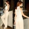 Lady Ribbon's Made Classy & Fabulous Pearl Floral Lace Jumpsuit จั้มสูทกางเกงขายาวคอเต่า ช่วงตัวลูกไม้แต่งมุขรอบคอ เก๋ๆด้วยดีเทลผ่าหลัง ลุคผู้ดี Classy เรียบหรูคะ **งาน Premium quality ป้าย Lady Ribbon คะ Pattern/Cutting เกาหลีสวยมากคะ ผ้าลูกไม้สวยคะ ดีเท