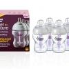 ขวดนมTommee tippee รุ่น Closer to Nature Advanced Comfort 260ml 9 OZ 4 Pack 4 ขวด รุ่นใหม่ล่าสุด anti colic BPA FREE กล่องม่วง นำเข้าจาก อังกฤษราคา ถูก
