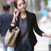 เสื้อผ้าแฟชั่นนำเข้า : เสื้อสูทแฟชั่น พร้อมส่ง มีปก แขนยาว สีดำ สวยเท่ห์