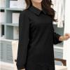 ชุดเดรสไซส์ใหญ่แขนยาวผ้าโครเชต์ถักสีดำบุซับในตัดต่อผ้าชีฟองช่วงแขน (XL,2XL,4XL)