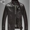 Pre-Order เสื้อแจ็คเก็ตหนังแท้ ผิวกำมะหยี่ สีน้ำตาลเข้ม