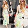 Seoul Secret Say's... Summer Flora Peachy Maxi Dress Material : เนื้อผ้าโพลีเอสเตอร์เนื้อเงาสวย สวยหรูดูสง่าด้วยทรงแม๊กซี่เดรสตัวยาว ชายกระโปรงพริ้วสวย สวยหวานดูสดใสด้วยงานพิมพ์ลายดอกไม้และใบไม้ ใช้โทนสีเขียวส้มสีสวยมากคะ มีดีเทลสวยๆ ด้วยงานปักเป็นลา