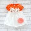 (พร้อมส่ง size 5) ชุดกระโปรงเด็กฟูๆ สีส้ม ใส่สบาย
