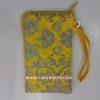 กระเป๋า ใส่โทรศัพท์ นารายา ผ้าคอตตอน สีเหลือง ลายหยดน้ำ ( กระเป๋านารายา กระเป๋าผ้า NaRaYa )