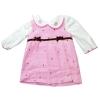 ชุดเดรสสีชมพูแขนยาว ขนาด 3-9 เดือน