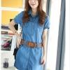 (พรีออเดอร์) ชุดกระโปรงยีนส์บาง ชุดแฟชั่นกระโปรงยีนส์ บลูยีนส์สีสดใส แฟชั่นยีนส์สวย ๆ