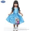 ( 4-6-8-10 ปี ) ชุดเดรส ชุดราตรี Frozen ลายเจ้าหญิงเอลซ่า เจ้าหญิงอันนา กระโปรงบานสีฟ้า แขนตุ๊กตา ดิสนีย์แท้ ลิขสิทธิ์แท้ (สำหรับเด็ก4-6-8-10 ปี)