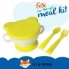 Fox on-the-go เซ็ทจาน ช้อมส้อม พลาสติกจากข้าวโพด สีเหลือง BPA Free