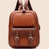 กระเป๋าแฟชั่นนำเข้า : กระเป๋า BeiBaoBao พร้อมส่ง สีน้ำตาล ตัดกับสีน้ำตาลเข้มสุดเท่ห์ หนัง PU ทรงสวย แต่งกระเป๋าใบน้อยน่ารัก แบบเป้เก๋ๆค่ะ หรือ ใช้ถือก็ได้นะคะ