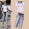 &#x2605Zara black&white strip set&#x2605 &#x2661Odee&Cutie Daily Fashion 2014&#x2661 ชุดเซ็ทเสื้อกับกางเกงแบรนด์เนม ในโทนสีขาว-ดำ mix&match ได้หลายลุคหลายสไตล์นะคะเป็น formal casual เก๋มากๆ เสื้อทรงแขนกุดแต่งระบาย ทรงคอกลมติดกระดุมที่ด้านหลังคอ ค่ะ กางเกง