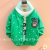 (พร้อมส่ง Size M) เสื้อผ้าเด็กผู้ชายแขนยาวสีเขียว
