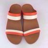 Fitflop Lulu Slide (สวมลูลูสีขาวส้ม/น้ำตาล)ราคา 490 บาท