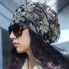 Pre-order หมวกแฟชั่นผ้าลูกไม้ลายใหญ่ ๆ สไตล์เกาหลี สวมคลุมผมเวลาไปธุระนอกบ้านกันแดด กันลม กันน้ำค้าง