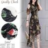 สินค้าพร้อมส่ง 한국에 의해 설계된 2Sister made, Black Gorgeous Vintage Dress with Beauty Flowers Dress เดรสยาว เนื้อผ้าchiffonพริ้วบางเบาพิมพ์ลายดอกสวยทั้งตัว งานมีซับในอย่างดีนะคะ ดีเทลเว้าไหล่ ช่วงอกและชายกระโปรงแต่งผ้าระบายเป็นชั้นๆสวยมากๆค่ะ กระโปรงยาวไล่ระดั