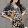 Seoul Secret Say's .... Emerald Bohe Style Mini Playsuit Material : สวยเก๋สไตล์ลุคสาวโบฮีมิค ด้วยเซ็ทเสื้อทรงวีแบบผีเสื้อ มาพร้อมกับกางเกงขาสั้นใส่เข้าเซ็ทกันสวยเก๋ด้วยงานพิมพ์ลายสไตล์โบฮีเมียน โทนสีสวยด้วยโทนสีเขียวเหลืองแบบตุ่นๆ ทรงสวย สาวๆ ใส่แล้ว