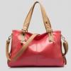 (Pre-order) กระเป๋าสะพายหนังแท้แบบเรียบๆ แฟชั่นกระเป๋าถือ ถุงสะพาย กระเป๋าสะพายสไตล์ยุโรป อเมริกา สีชมพู