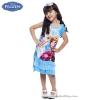 ชุดเดรส Frozen แขนกุด สีฟ้า ใส่สบาย ดิสนีย์แท้ ลิขสิทธิ์แท้ (สำหรับเด็ก4-6-8-10 ปี)