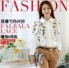 Pre-order เสื้อเชิ้ตแขนยาว เสื้อทำงานแขนยาว สีขาวพิมพ์ลายดอกไม้ แฟชั่นสไตล์เกาหลีปี 2015