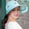Pre-order หมวกแฟชั่น หมวกแก็ปปีกกว้าง หมวกฤดูร้อน กันแดด กันแสงยูวี สีฟ้า