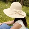 Pre-order หมวกฟางปีกกว้างแฟชั่นฤดูร้อน กันแดด กันแสงยูวี 6 สี สีเบจ