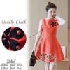 สินค้าพร้อมส่ง 한국에 의해 설계된 2Sister Made, Orange Little Cute Summer Dress เดรสสั้นสีสดใส เนื้อผ้าpolyester+silkมันวาว แต่งลายดอกไม้สวยช่วงอก ดีเทลแขนกุด งานมีซิปด้านหลังจ้า กระโปรงระบายบานสวย มีซับในอย่างดีค่ะ งานป้าย2sister สินค้านำเข้างานพรีเมียมนะคะ Cutt