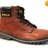 """รองเท้า CATERPILLAR CAT SECOND SHIFT 6"""" STEEL TOE น้ำตาล หนังเรียบ รองเท้าเซฟตี้ หัวเหล็ก size 40-45 สินค้าใหม่"""