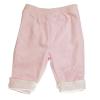 กางเกงเด็ก สีชมพู ผ้านุ่มมาก ใส่แล้วอุ่น ขนาด 6 เดือน