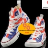 รองเท้าผ้าใบ Converse 2014 Hot Converse London British UK Flag Print Chuck Taylor All Star High Tops Shoes Size 37-44 พร้อมกล่อง