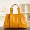 (Pre-order) กระเป๋าสะพายหนังแท้แบบเรียบหรู แฟชั่นกระเป๋าถือ กระเป๋าสะพายสไตล์ยุโรป อเมริกา สีเหลือง