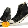 รองเท้า Converse All Star Overseas Edition หนังดำปี 2011 หุ้มส้น ตาไก่6เหลี่ยม ผู้ชาย ผู้หญิง Shoes Size 37-44 พร้อมกล่อง