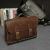 Pre-Order กระเป๋าสะพายผู้หญิง กระเป๋าเอกสาร หนังเทียม PU และสายสะพายยาวถอดออกได้ ติดซิปด้านบน สีน้ำตาล