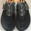 รองเท้า fitflop FLORA(ฟอร่าประดับเพชร)สีดำราคา570บาท