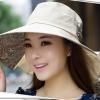 Pre-order หมวกแฟชั่น หมวกใบกว้าง หมวกฤดูร้อน กันแดด หมวกกันแสงยูวี ผ้าลินิน สีขนสัตว์พิมพ์ลายดอกไม้