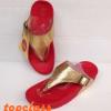 รองเท้า Fitflop Skinny สีทอง-แดง 550 บาท