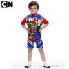 ฮ (สำหรับเด็กอายุ 6เดือน-14 ปี) Swimsuit for Boys ชุดว่ายน้ำ เด็กผู้ชาย Ben10 บอดี้สูท กางเกงขาสั้น มาพร้อมหมวกว่ายน้ำและถุงผ้า สุดเท่ห์ ใส่สบาย ลิขสิทธิ์แท้