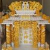 ศาลเจ้าที่ขนาด 42 นิ้ว 888 4 เสา 5 หลังคา พ่นทอง