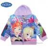 ฮ (ไซส์ 4) Disney Frozen for Girl เสื้อแจ็คเก็ต เสื้อกันหนาวแขนยาว เด็กผู้หญิง สกรีนลาย เจ้าหญิงอันนา เอลซ่า สีม่วง รูดซิป มีหมวก(ฮู้ด) ใส่คลุมกันหนาว กันแดด ใส่สบาย ดิสนีย์แท้ ลิขสิทธิ์แท้ (สำหรับเด็ก4-5 ปี)