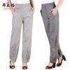 Pre-Order กางเกงผ้าลินินสีธรรมชาติ ขาจั๊ม กางเกงลำลองเหมาะกับฤดูร้อน
