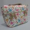 กระเป๋าถือ นารายา ผ้าคอตตอน ลายช้าง หลากสี ติดโบว์เล็กๆ ด้านหน้า สายหิ้ว หูเปีย (กระเป๋านารายา กระเป๋า NaRaYa กระเป๋าผ้า)