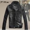 Pre-Order Jonnyrman เสื้อแจ็คเก็ตยีนส์โทนสีดำ สไตล์เรโทร แบบเท่ ๆ สำหรับหนุ่มมาดเซอร์