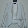 Pre-Order เสื้อสูทแฟชั่นเกาหลี เสื้อสูทเข้ารูป แขนยาวสีขาว สูทผ้าฝ้าย ปกและซับในผ้าซาตินเนื้อดี
