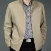 Pre-Order เสื้อแจ็คเก็ตผู้ชาย เสื้อสูทผู้ชาย เสื้อแจ็คเก็ตสูทผู้ชาย เสื้อแจ็คเก็ตธุรกิจผู้ชาย เสื้อลำลองผู้ชาย ผ้าฝ้ายผสมผ้าโพลีเอสเตอร์สีกากี